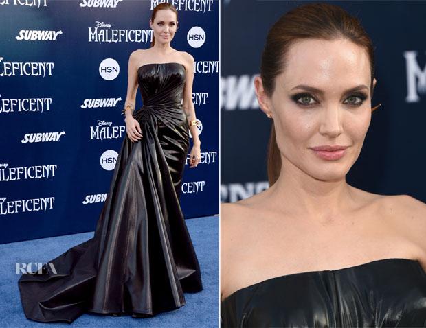 Angelina Jolie In Atelier Versace - 'Maleficent' World Premiere