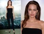 Angelina Jolie In Ralph Lauren - 'Maleficent' Paris Photocall