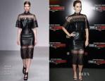Emily Blunt In David Koma - 'Edge Of Tomorrow' Paris Premiere