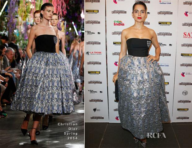 Kangana Ranaut In Christian Dior - IFFM Awards 2014