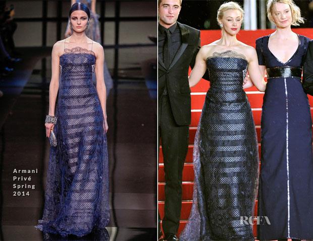 Sarah Gadon In Armani Privé - 'Maps To The Stars' Cannes Film Festival Premiere