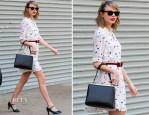 Taylor Swift In Zooey Deschanel for Tommy Hilfiger - Out In New York City