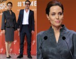 Angelina Jolie In Atelier Versace - Global Summit To End Sexual Violence In Conflict – Day 4