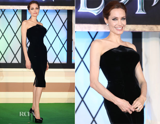 Angelina Jolie  In Atelier Versace - 'Maleficent' Japan Premiere