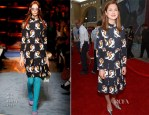 Bonnie Wright In Miu Miu - Wizarding World of Harry Potter Diagon Alley Grand Opening