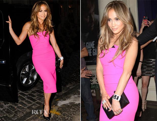 Jennifer Lopez In Roland Mouret - 'AKA' Album Launch Party