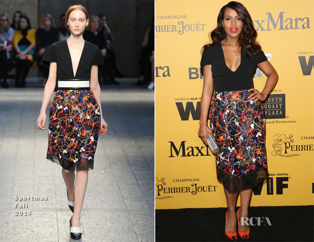 Kerry Washington In Sportmax Fall 2014 - Women In Film 2014 Crystal + Lucy Awards