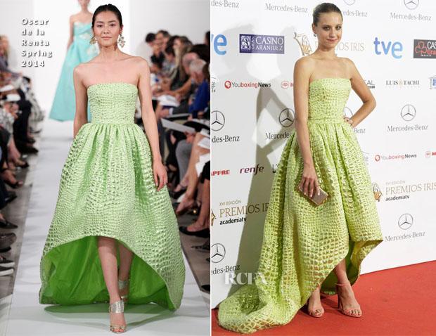 Michelle Jenner In Oscar de la Renta - Iris Awards