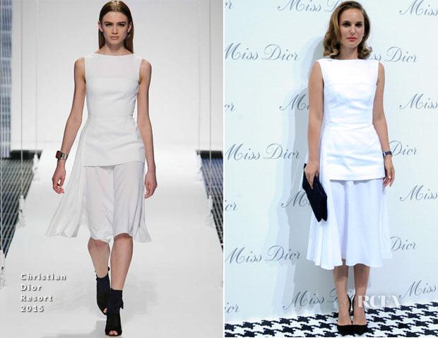 Natalie Portman In Christian Dior - Miss Dior Exhibition Opening