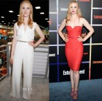 Deborah Ann Woll In Fitriani & Halston Heritage - Comic-Con 2014 & Entertainment Weekly's Annual Comic-Con Celebration