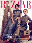 Laura Carmichael, Michelle Dockery and Lily James for Harper's Bazaar UK August 2014