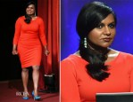 Mindy Kaling In Escada - 66th Primetime Emmy Awards Nominations