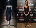 Zoe Saldana In Lanvin - 'Guardians of the Galaxy' New York Special Screening