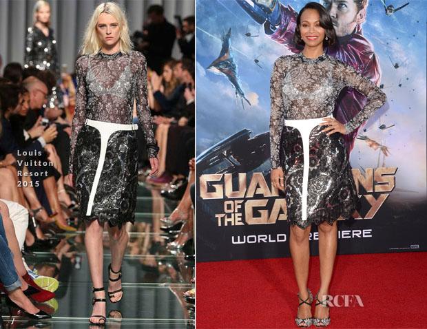 Zoe Saldana In Louis Vuitton - 'Guardians Of The Galaxy' LA Premiere