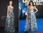 Zoe Saldana In Valentino - 'Guardians Of The Galaxy' London Premiere