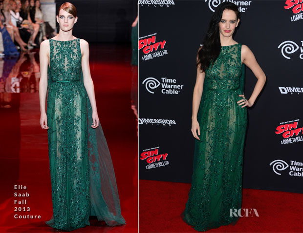 Eva Green In Elie Saab Couture - 'Sin City A Dame To Kill For' LA Premiere