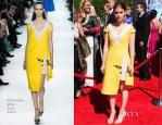 Kate Mara In Christian Dior - 2014 Creative Arts Emmy Awards