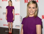 Taylor Schilling In Roland Mouret - 'Orange Is The New Black' Panel Discussion