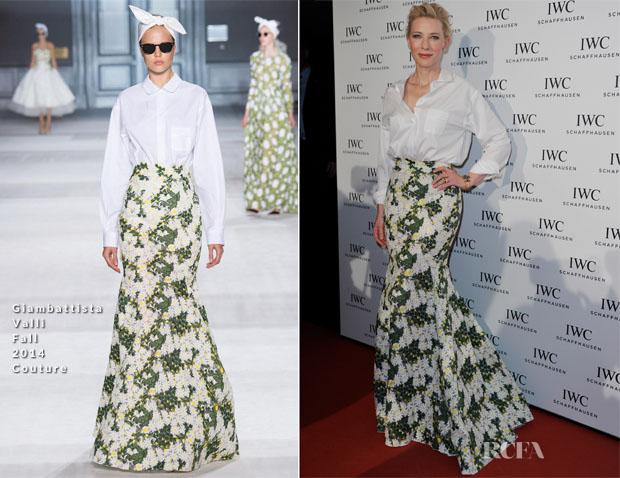 Cate Blanchett In Giambattista Valli Couture - IWC Gala Dinner