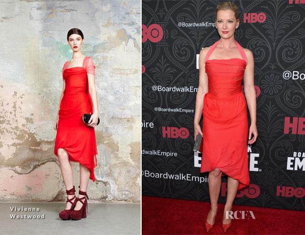 Gretchen Mol In Vivienne Westwood - 'Boardwalk Empire' Season Five Premiere