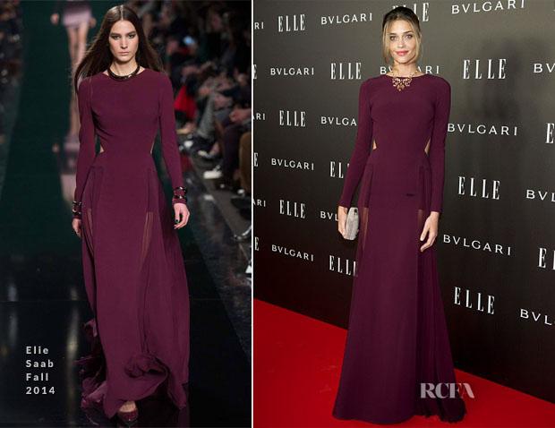 Ana Beatriz Barros In Elie Saab - Elle Style Awards 2014