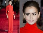 Lily Collins In Solace London - 'Love, Rosie' London Premiere