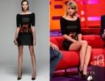Taylor Swift In J. Mendel - The Graham Norton Show
