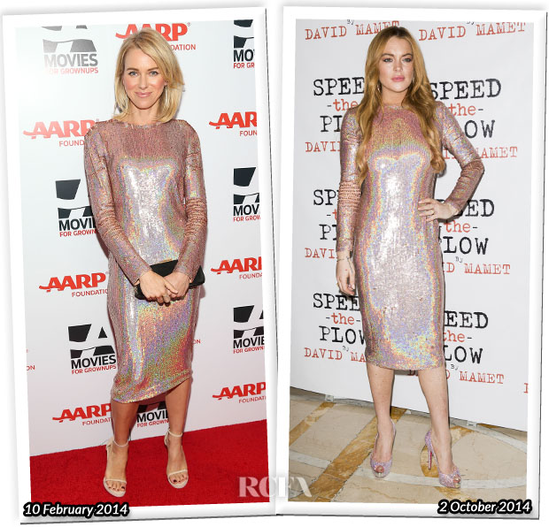 Who Wore Givenchy Better Naomi Watts or Lindsay Lohan