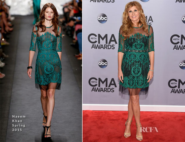 Connie Britton In Naeem Khan - 2014 CMA Awards