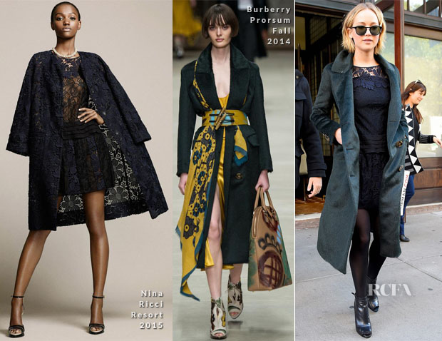 Jennifer Lawrence In Nina Ricci & Burberry Prorsum - New York Press Junket