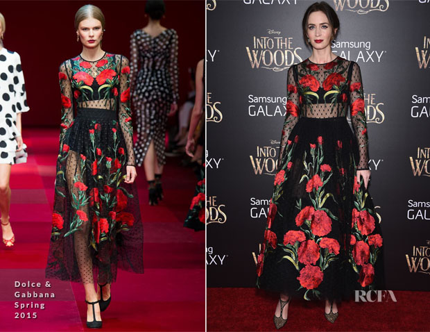Emily Blunt In Dolce & Gabbana - 'Into The Woods' World Premiere