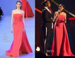 Freida Pinto In Elie Saab Couture - Nobel Peace Prize Concert 2014