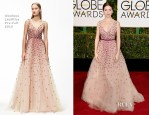 Anna Kendrick In Monique Lhuillier - 2015 Golden Globe Awards