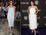 Isabelle Fuhrman In Christian Siriano - 2015 InStyle and Warner Bros. Golden Globe Awards Post-Party
