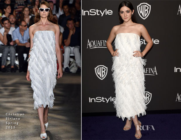 Isabelle Fuhrman In Christian Siriano - 2015 InStyle and Warner Bros Golden Globe Awards Post-Party