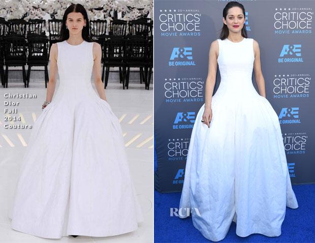 Marion Cotillard In Christian Dior Couture - 2015 Critics' Choice Movie Awards