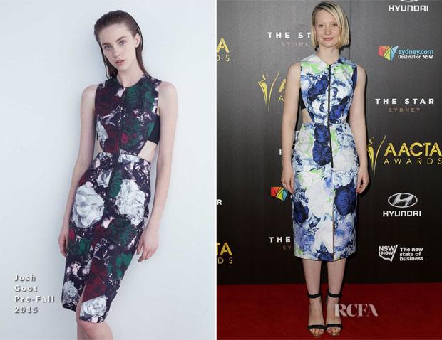 Mia Wasikowska In Josh Goot - 4th AACTA Awards Ceremony