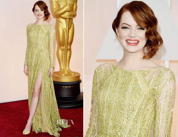 Emma Stone in Elie Saab Couture 2015 oscars
