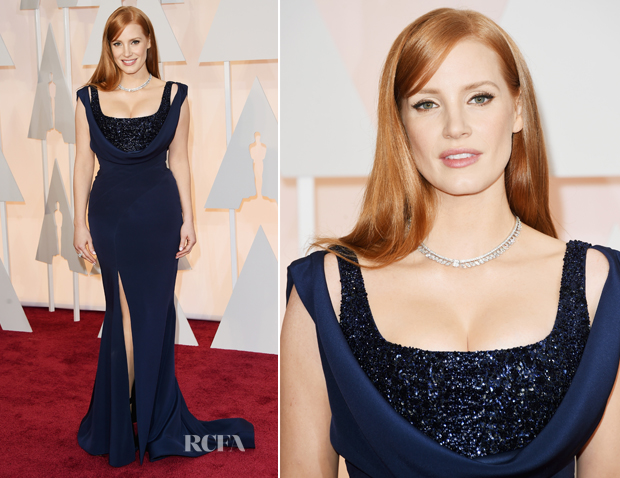 Jessica Chastain In Givenchy - 2015 Oscars