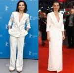 Juliette Binoche In Schiaparelli Couture & Giorgio Armani - 'Nobody Wants the Night' Berlin Film Festival Photocall & Premiere