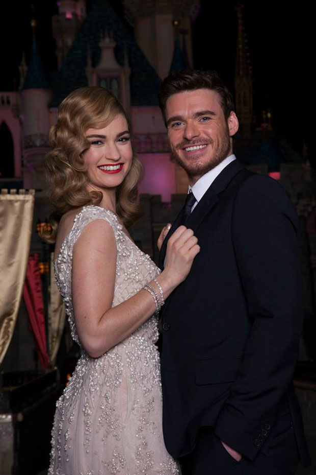 Lily James and Richard Madden - 'Cinderella' Disneyland ...