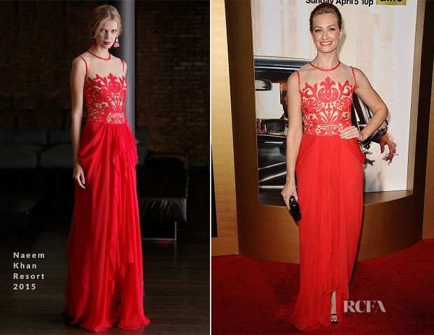 Beth Behrs In Naeem Khan - 'Mad Men' Black & Red Ball