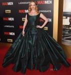Christina Hendricks In Zac Posen - 'Mad Men' Black & Red Ball