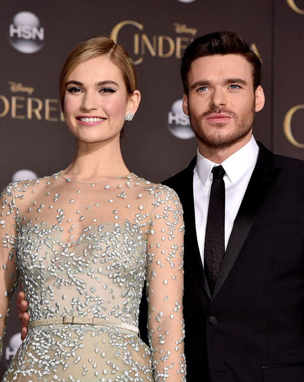 Lily James and Richard Madden - 'Cinderella' LA Premiere ...