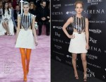 Jennifer Lawrence In Christian Dior Couture & Helmut Lang - 'Serena' New York Screening, After-Party & Press Junket