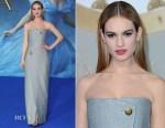 Lily James In Balenciaga - 'Cinderella' London Premiere