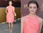 Maisie Williams In Markus Lupfer - 'Game of Thrones' Season 5 Premiere