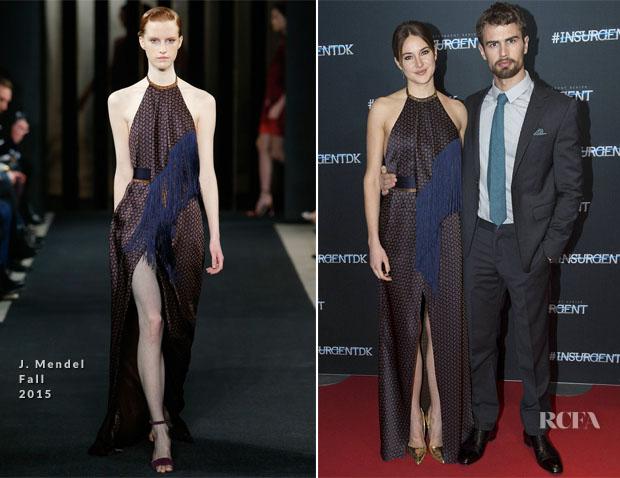 Shailene Woodley In J Mendel - 'Insurgent' Copenhagen Premiere