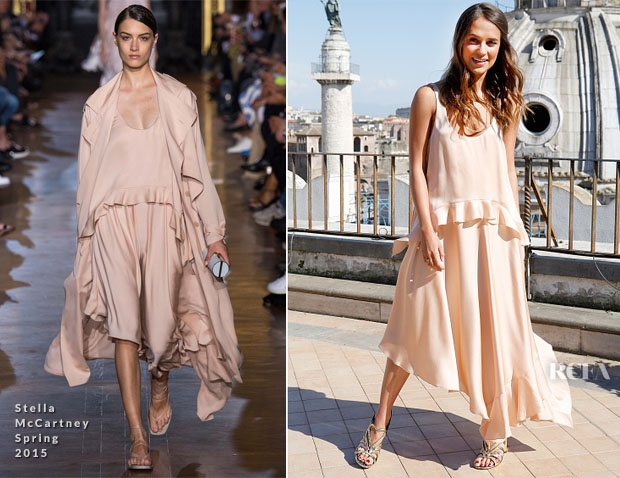 Alicia Vikander In Stella McCartney - 'The Man From UNCLE Rome Photocall