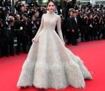 Araya A. Hargate In Ashi Studio Couture - 'Sicario' Cannes Film Festival Premiere
